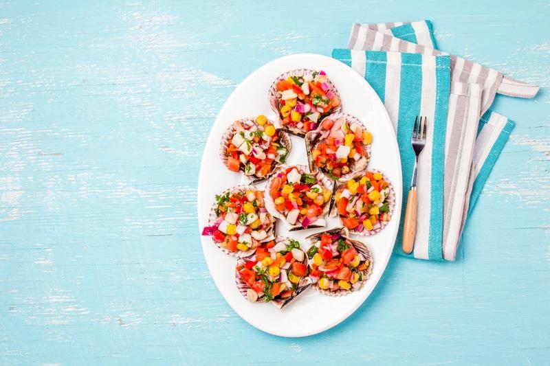 Salade de Pétoncles Colorée