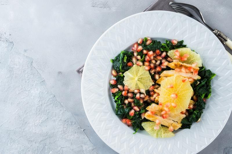 Salade de Poulet Épinards et Pamplemousse