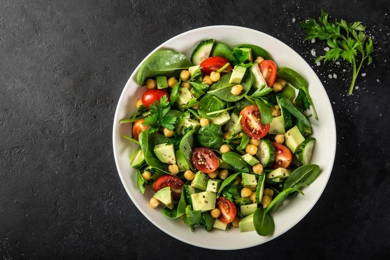 Salade Verde aux Pois Chiches