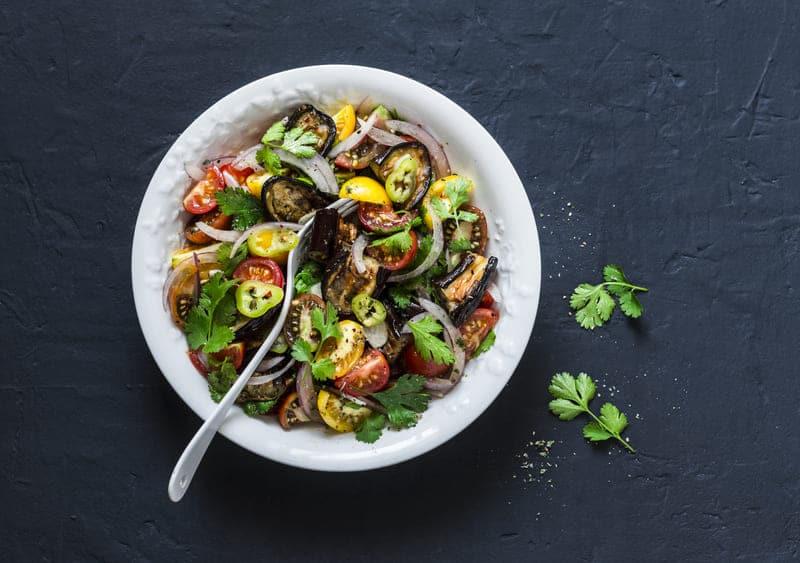 Salade d'Aubergines Grillées