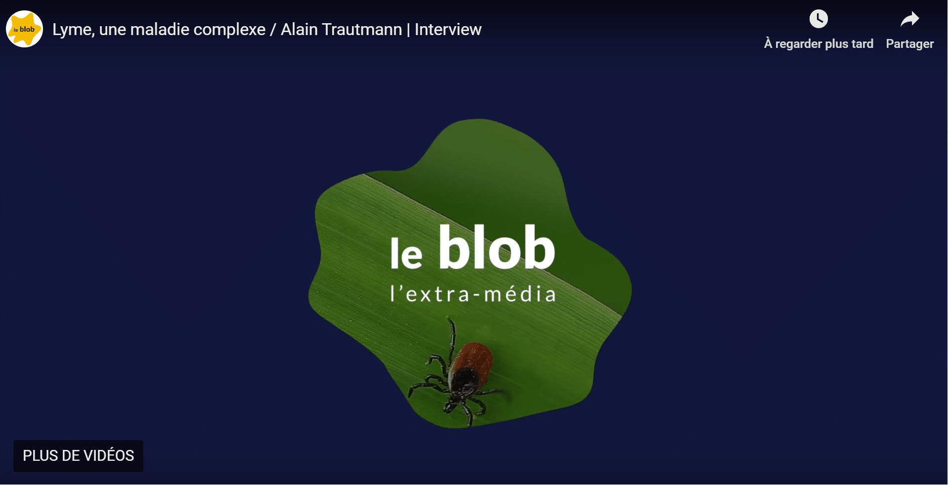 Alain Trautmann la maladie de Lyme